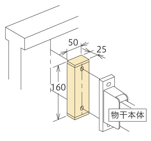 壁からの出寸法の調整